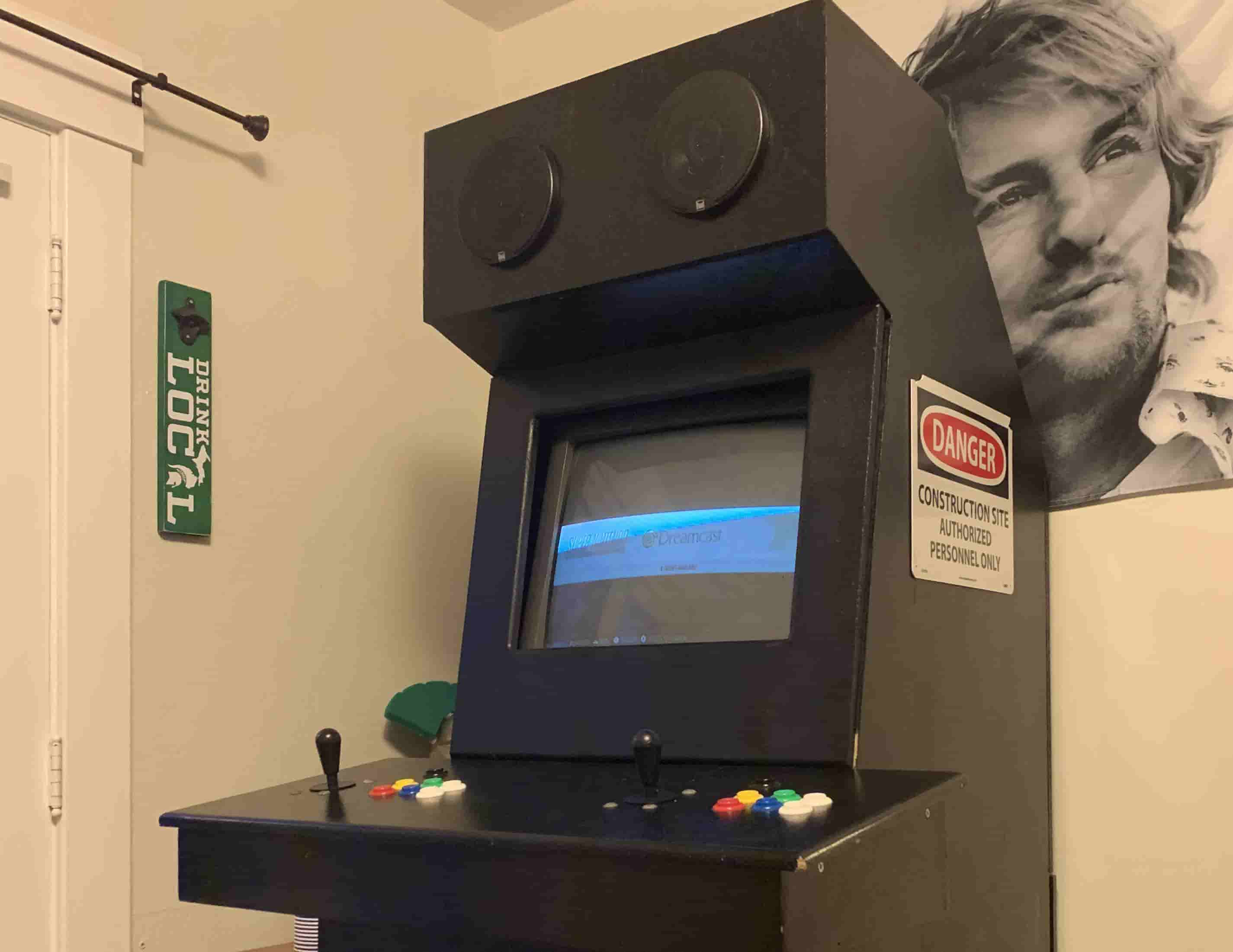 an arcade system built with a raspberry pi